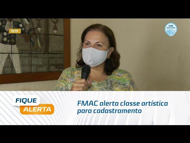 Lei Aldir Blanc: FMAC alerta classe artística para cadastramento