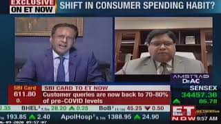 SBI Card Business performance & consumer spending trends amidst COVID-19|ET Now Exclusive interview