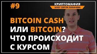 Биткоин кэш или биткоин? Что происходит с курсом.