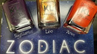 KL POLISH ZODIAC COLLECTION | FIRE SIGNS | Swatch, Review , & Comparisons