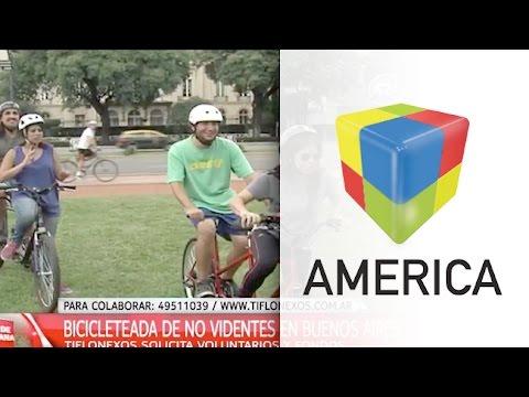 Bicicleteada para personas no videntes