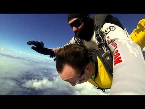 Keegan Snow SKYDIVES!! At 18,000 feet over Santa Barbara, CA