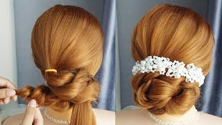 Elegant Updo Hairstyles For Weddings Bridal Hairstyle For Long Hair Tutorial Quick Hairstyles
