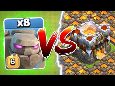 INSANE ALL LEVEL 6 GOLEMS CRUSH TOWN HALL 11!! - Clash Of Clans