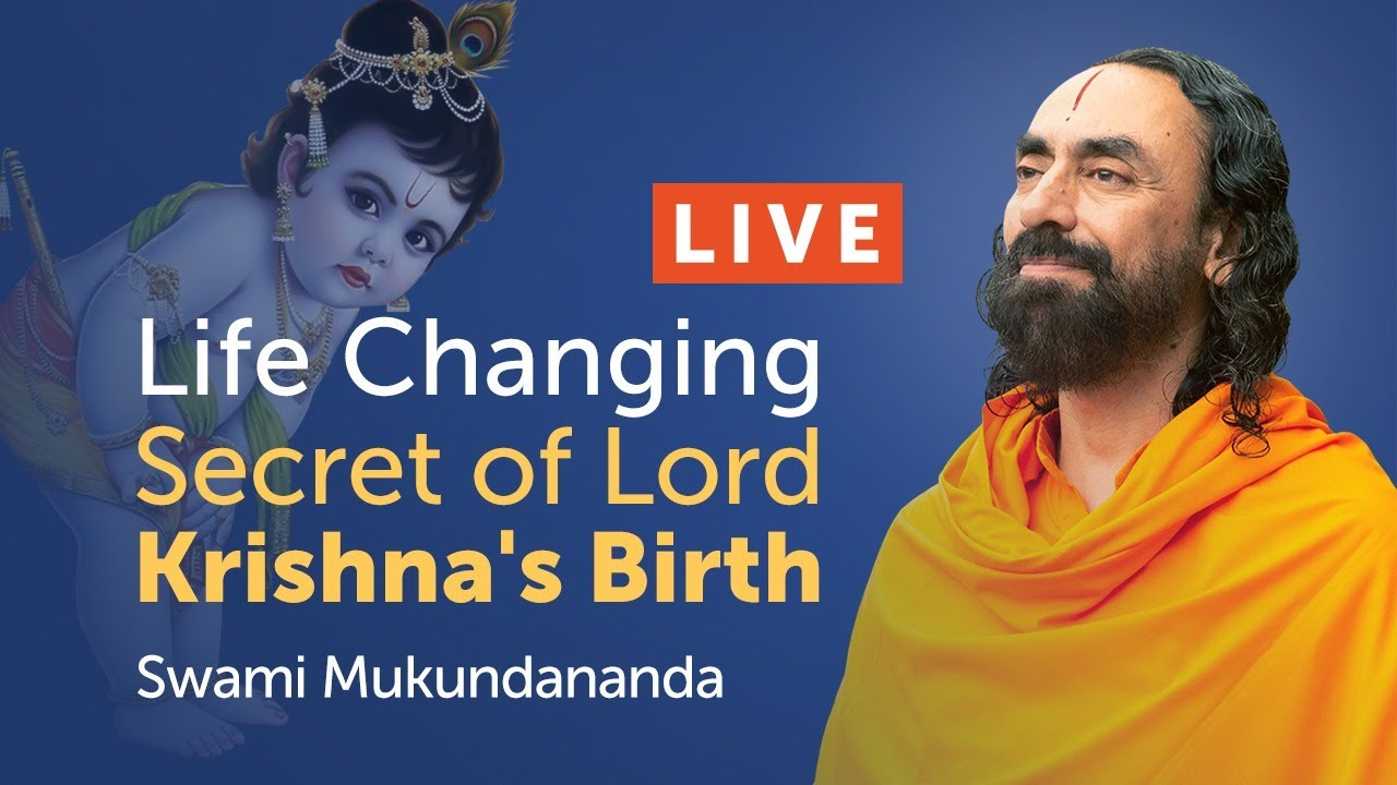 Life Changing Secret of Lord Krishna's Birth - Janmashtami 2020 Live Discourse Swami Mukundanan