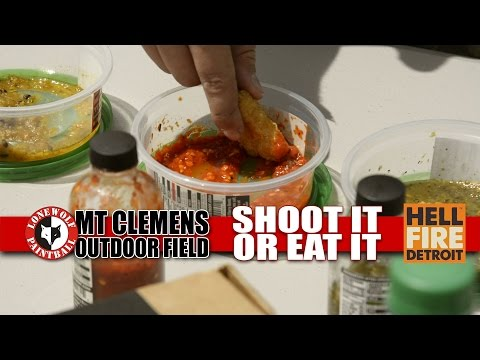 Shoot It or Eat It - Hell Fire Detroit Hot Sauce | Lone Wolf Paintball Michigan