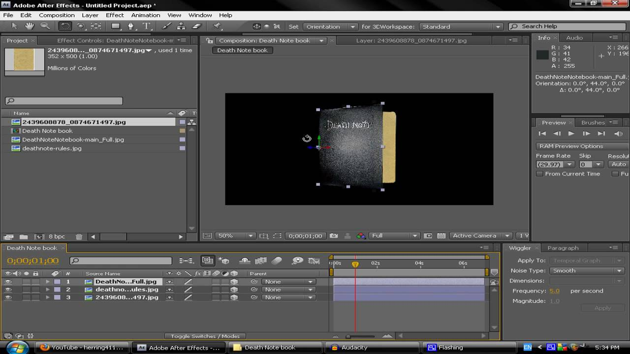 Adobe After Effects CS4: How To Make a Death Note Book - YouTube