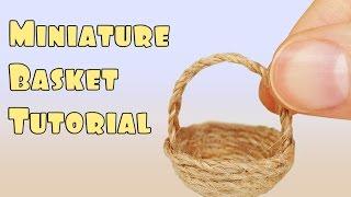Miniature Basket Tutorial - (Minyatür sepet yapımı)