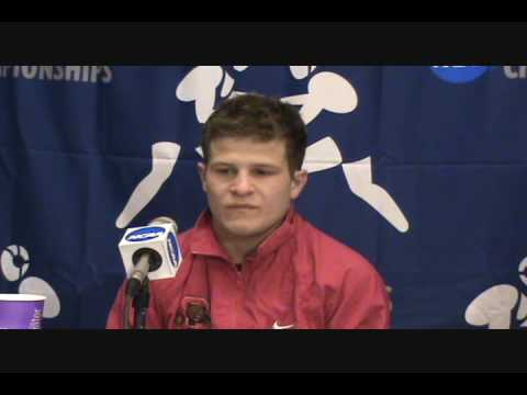 Troy Nickerson (Cornell) interviews after winning 2009 NCAA title at 125 pounds