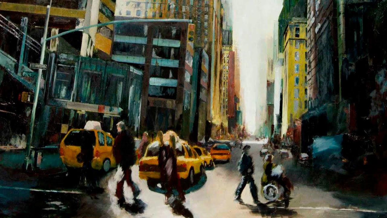 PINTURA AL OELO NEW YORK I - YouTube