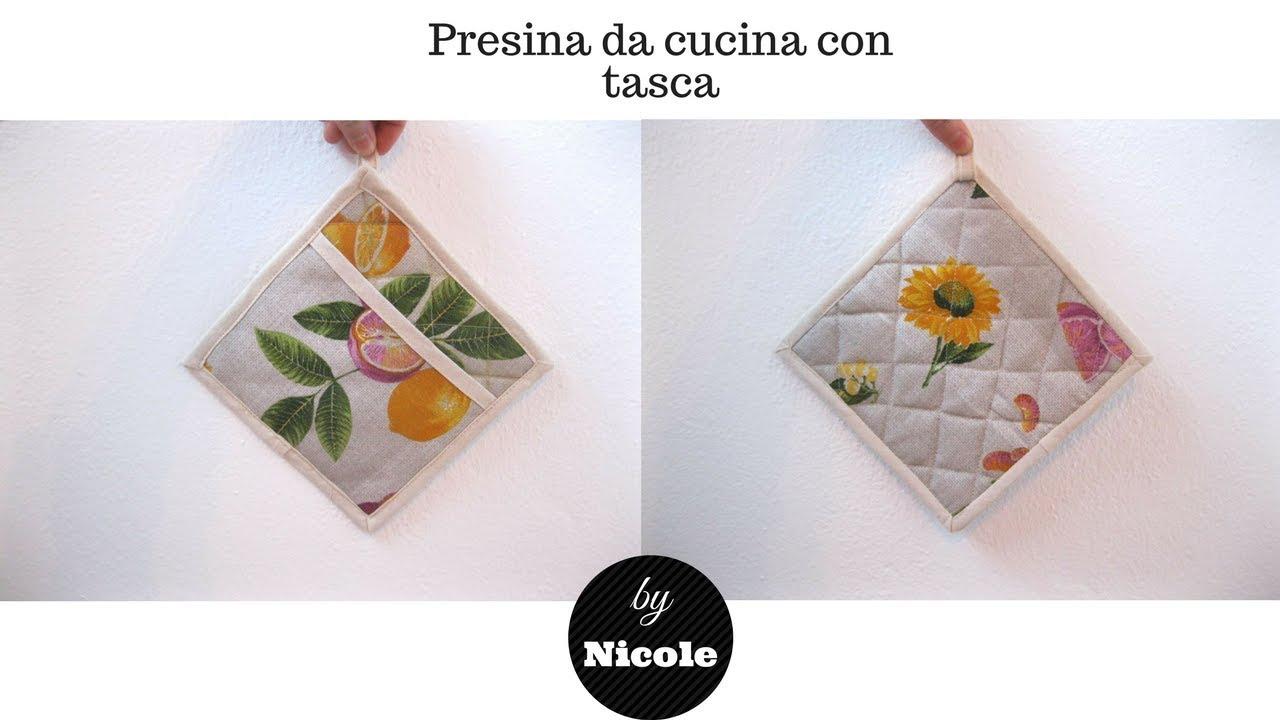 Presina da cucina con tasca cucito creativo youtube