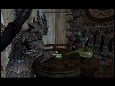 Skyrim Gameplay - Archer potions crafted with Alchemy