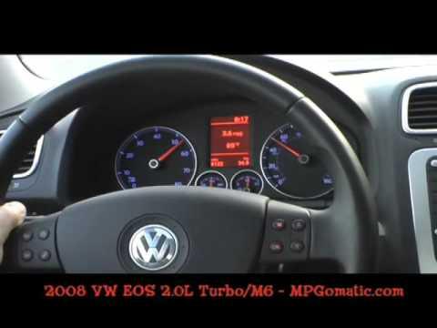 2008 Volkswagen Eos 0 60 Mph