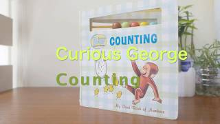 親子共讀 好奇猴喬治Curious Baby Counting (Curious George Board Book with Beads) (Curious Baby Curious George)