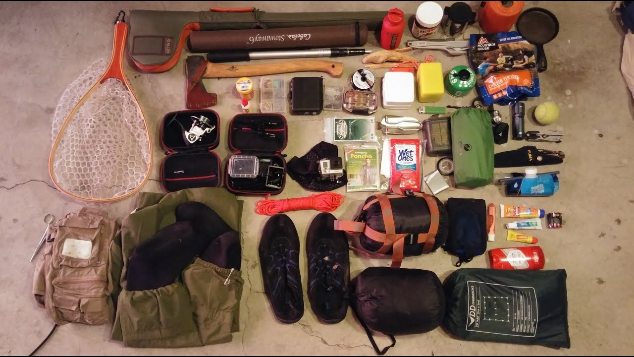 Cranberry wilderness backcountry fishing gear loadout for Backpacking fishing kit