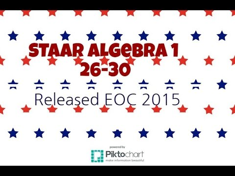 staar algebra 1 eoc released exam 2015 26 30 youtube. Black Bedroom Furniture Sets. Home Design Ideas