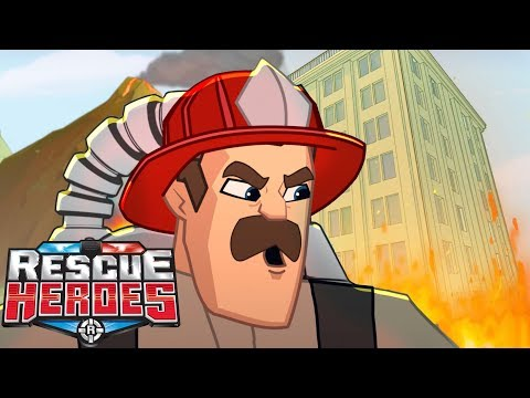 Rescue Heroes™- Lava On The Loose! | Episode 7 | Videos For Kids | Kids Heroes | Cartoon Heroes