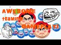 Agario- awesome  teaming gameplay !