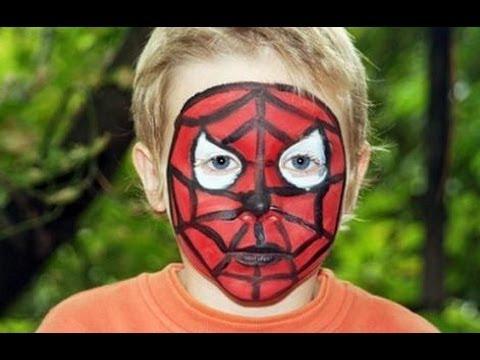Tutorial pintacaras Spiderman  YouTube