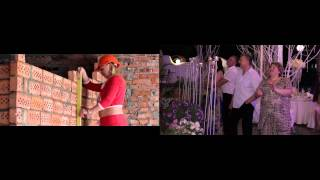 просмотр клипа на свадьбе (подарок невесты жениху)