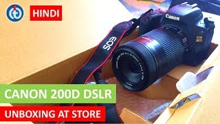 CANON 200D | EOS REBEL SL2 DSLR Unboxing at Reliance Digital Store | In Hindi