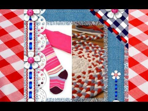 Handmade: Нашлось применение старым колготкам! Уютный коврик! Утилитарное рукоделие!