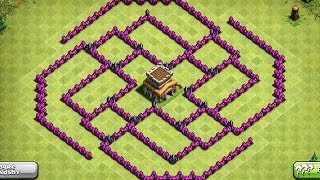 Repeat youtube video EPIC TOWN HALL 8 (TH8) Trophy Base - The Ball - Clash Of Clans
