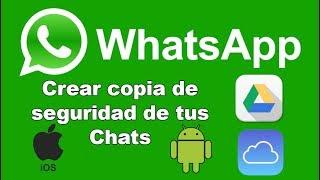 Como crear una copia de seguridad de Whatsapp (Android y iPhone)