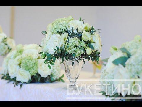 Cмотреть видео Украшение свадьбы цветами в ресторане Аист