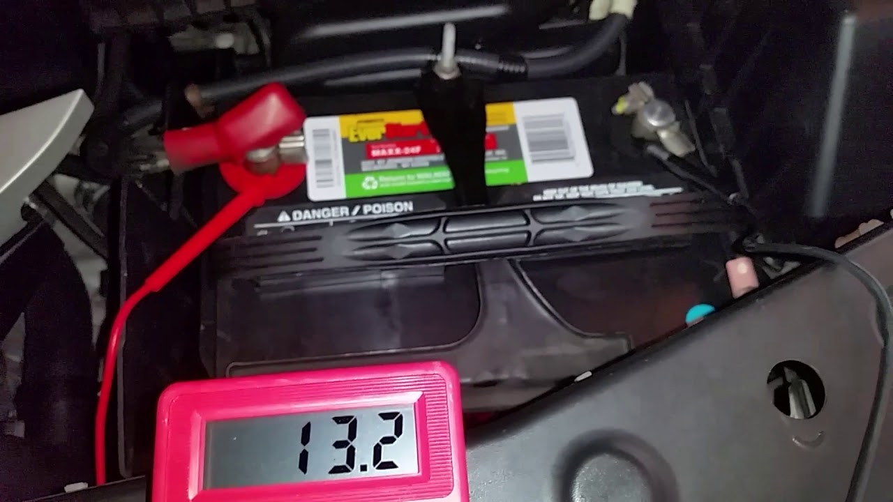 2001 2006 Acura Mdx Testing New 12v Battery Voltage After Charging With Tender Jr