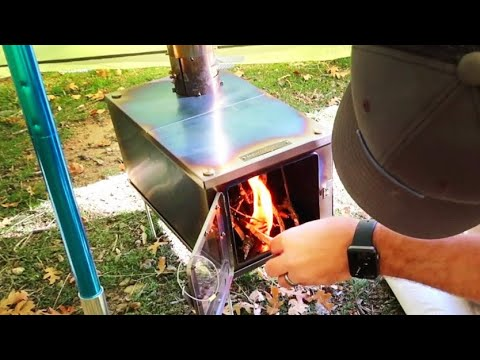 Tent Stove Fire: Gather Wood and Build Inside