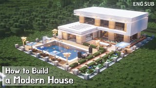 Minecraft: How To Build a Modern House Tutorial (Building Tutorial) (#9) | 마인크래프트 건축, 집 짓기, 인테리어