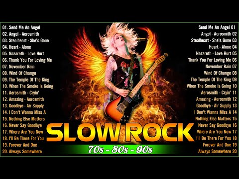 💖 Best Rock Ballads Love Songs 70s 80s 90s - Bon Jovi, Scorpions, GNR, Aerosmith, Nirvana 💖