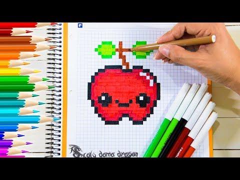 Pintando Manzana En Cuadricula Apple Kawaii Pixel Art Youtube