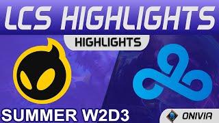 DIG vs C9 Highlights LCS Summer 2021 W2D3 Dignitas vs Cloud9 by Onivia