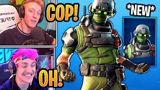 Streamers React to *NEW* Tech Ops Skin & Coaxial Copter Glider! - Fortnite Best Moments
