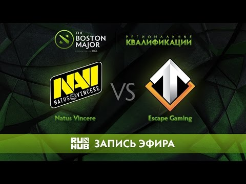 Natus Vincere vs Escape Gaming, Boston Major Qualifiers - Europe [GodHunt, Lex]