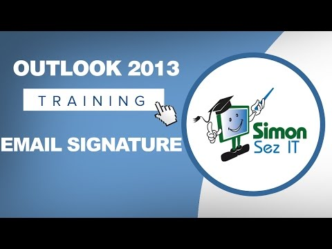 Microsoft Outlook 2013 Training - Email Signatures
