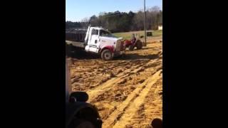 Dump truck turn over