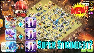 NEW!! SUPER STRONGEST⭐STONE SLAMMER+ BAT SPELL+AIR SMASH TH12 3-STAR ( Clash of Clans )