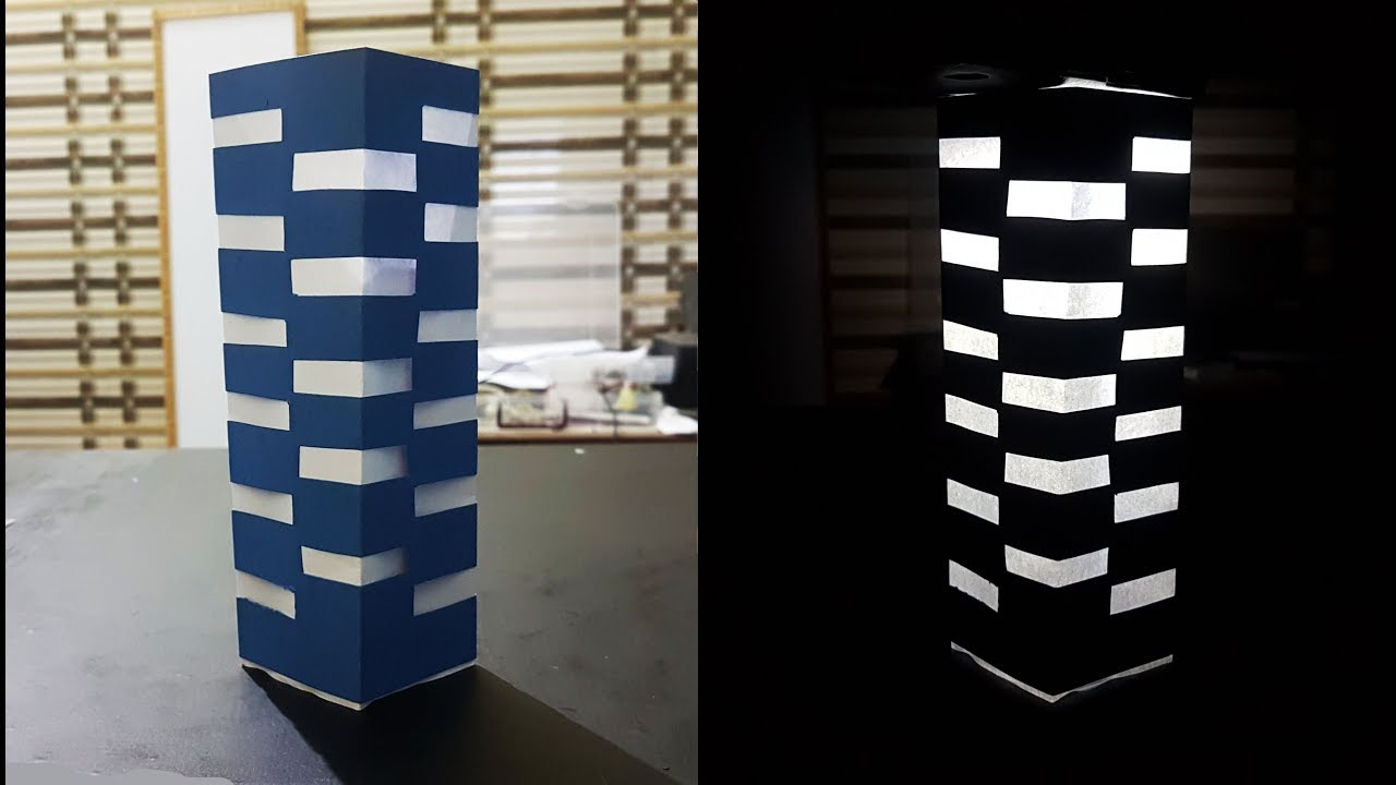 How To Make Paper Night Lamp With Mobile Phone Flash Light