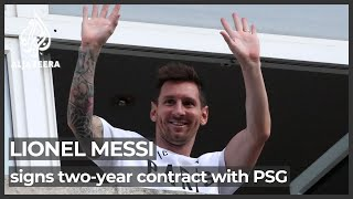 Messi signs two-year contract with PSG after leaving Barcelona