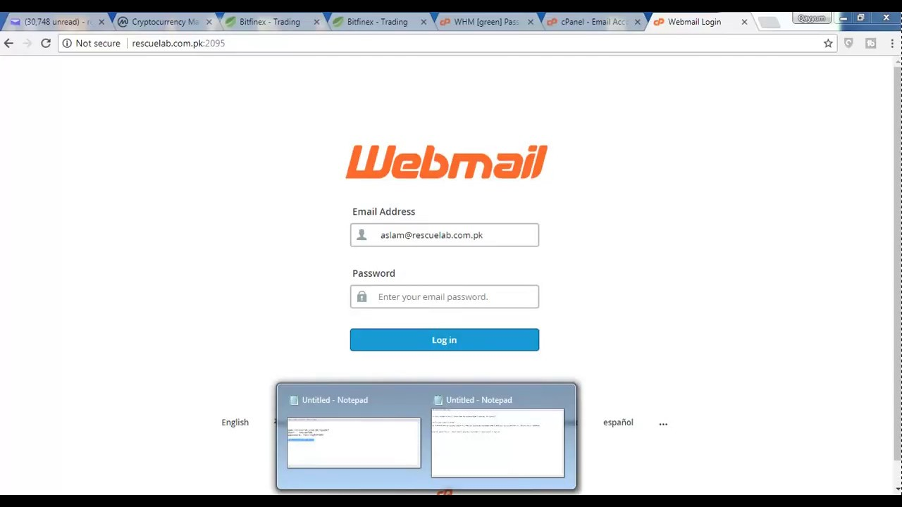 how to login in cpanel and create email in cpanel