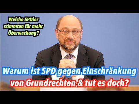 Martin Schulz, warum schränkt die SPD unsere Grundrechte ein - obwohl sie es angeblich nicht tut?