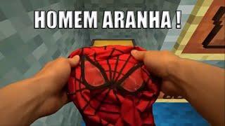 Minecraft: HOMEM ARANHA NA VIDA REAL !! (REALISTIC MINECRAFT SPIDERSTEVE)