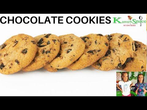 Baby Zara of 3 yrs made chocolate cookies - yummy chocolate cookies recipe