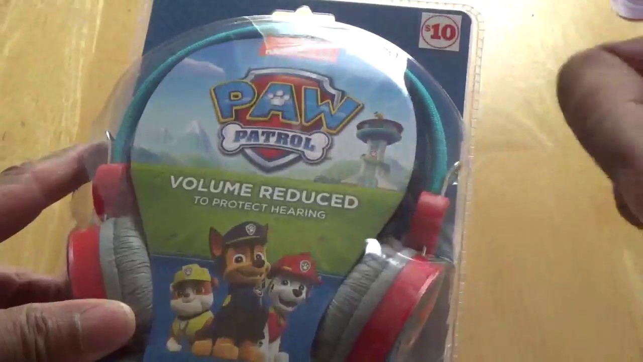 Paw Patrol Headphones For Kids Unboxing And First Impressions