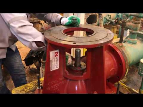 Aurora - Peerless - National Vertical Turbine Pump Installation Work  -Stuffing box assembly- Part 8