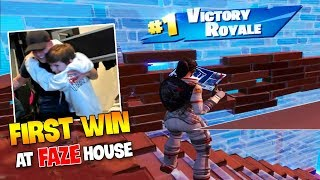 FaZe H1ghsky1 *First WIN* at The FaZe House  ( Solo Arena Mode! )
