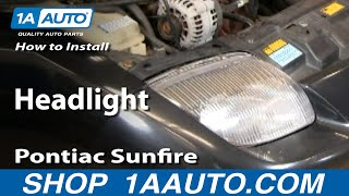 How To Install Replace Headlight Pontiac Sunfire 95-02 1AAuto.com